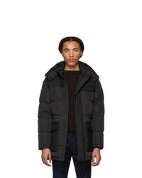 Z Zegna Black Down Long Puffer Jacket