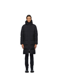Herno Black Down Long Stadium Coat
