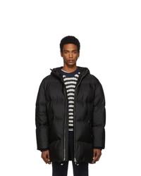 Prada Black Down Oversized Long Jacket