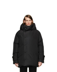 Burberry Black Down Oversized Wrap Coat