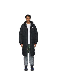 Nike Black Long Down Windrunner Jacket
