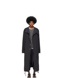 Issey Miyake Men Black Nylon Taffeta Coat