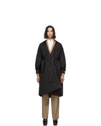 Gucci Black Silk Oversized Taffeta Coat