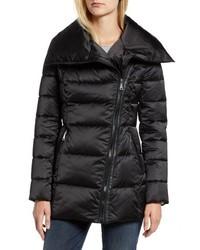 Tahari Blair Moto Style Puffer Jacket