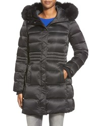 Sachi Down Coat With Genuine Fox Fur Trim