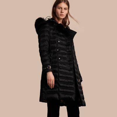 ... Burberry Down Filled Puffer Coat With Fur Trim ... 47f231bf4