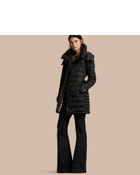Burberry Down Filled Puffer Coat With Packaway Hood