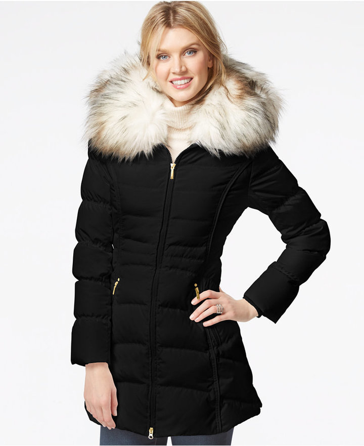 Laundry by Shelli Segal Faux Fur Hood Puffer Down Coat | Where to ...