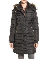Sam Edelman Faux Fur Trim Down Feather Fill Puffer Coat