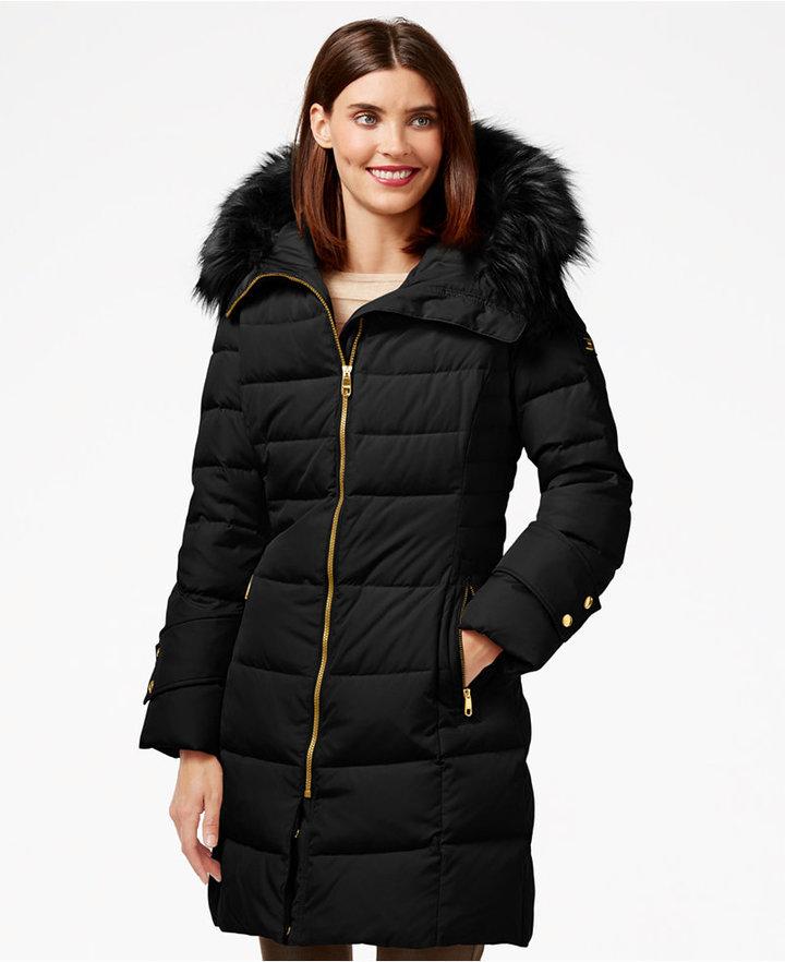 Faux Fur Trim Puffer Jacket Cairoamani Com