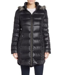 Saks Fifth Avenue Faux Fur Trimmed Hooded Puffer Coat
