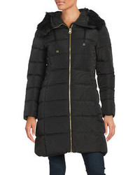 GUESS Faux Fur Trimmed Puffer Coat