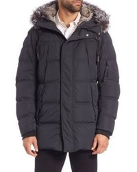 Andrew Marc Fur Trimmed Puffer Coat