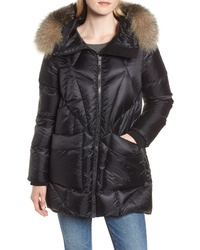 Andrew Marc Genuine Fox Quilted Down Coat