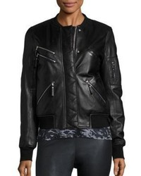 Generation Love Gigi Leather Puffer Bomber Jacket