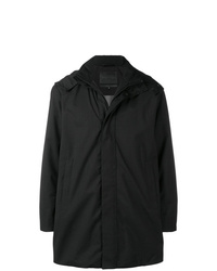 Emporio Armani Hooded Band Collar Coat