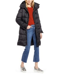 Halogen Hooded Puffer Jacket With Removable Hood