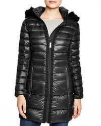 DKNY Lightweight Hooded Puffer Coat