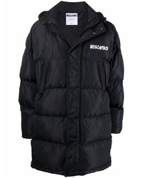 Moschino Logo Embroidered Puffer Coat