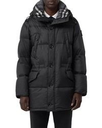 Burberry Logo Patch Hooded Down Puffer Coat