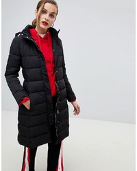 Emporio Armani Longline Padded Coat With Branded Taping