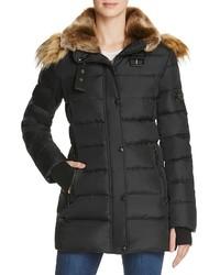 Aqua Matte Chelsea Puffer Coat 100%