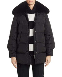 Moncler Mesange Quilted Down Puffer Coat With Removable Genuine Fox Fur Collar