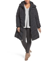 Jessica Simpson Plus Size Hooded Vest Inset Puffer Coat