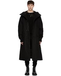 R 13 R13 Black Long Anorak Puffer Coat