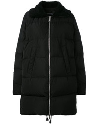 Dsquared2 Shearling Collar Padded Coat