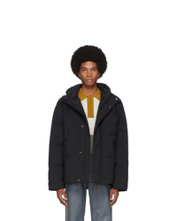 Acne Studios Acne S Black Down Hooded Jacket