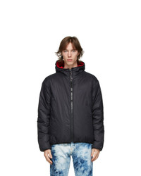 MSGM Black And Red Nylon Jacket