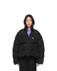 Balenciaga Black Bb C Shape Puffer Coat