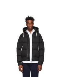 AMI Alexandre Mattiussi Black Down Hooded Jacket