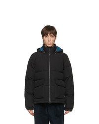 Ps By Paul Smith Black Down Hooded Jacket