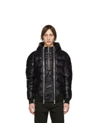 Balmain Black Down Logo Jacket