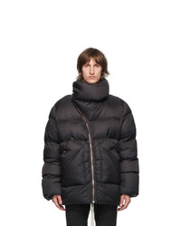 Rick Owens Black Down Mountain Duvet Coat