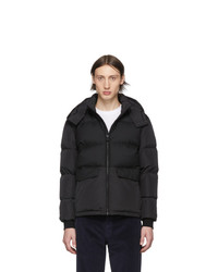 Z Zegna Black Down Short Puffer Jacket