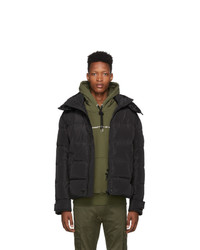 Diesel Black Down W Smith Ya Hooded Jacket