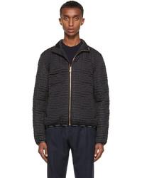 Versace Black Greca Quilted Jacket
