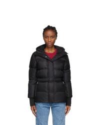Kenzo Black Hooded Puffa Jacket