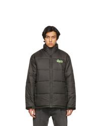 Psychworld Black Logo Puffer Jacket