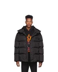 DSQUARED2 Black Nylon Down Puffer Jacket