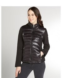 Calvin Klein Black Quilted Cropped Puffer Coat