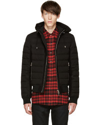 Balmain Black Quilted Down Jacket