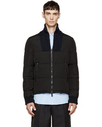 Maison Margiela Black Quilted Knit Puffer Jacket