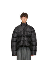 Balenciaga Black Quilted Technical Faille C Shape Jacket