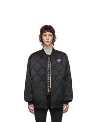 Nike Black Satin Nsw Air Jacket