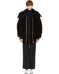 Black velvet short puffer jacket medium 5219043