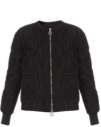 Moncler Celia Lace Overlay Down Jacket